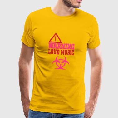 warning loud music - Men's Premium T-Shirt
