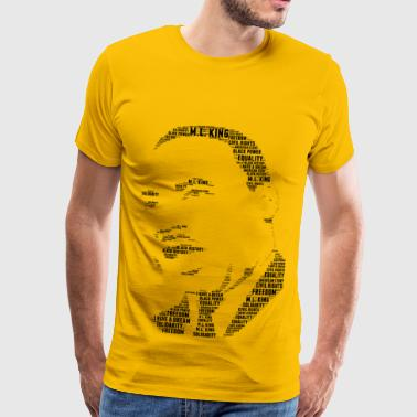 martin luther king mot stencil nuage - T-shirt Premium Homme