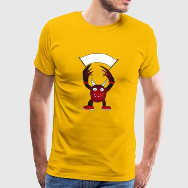 Devil with horns wants to play - Men's Premium T-Shirt
