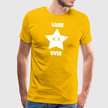Game Over - Mario Star - Mannen Premium T-shirt
