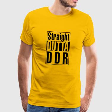 Straight Outta DDR - Black - Men's Premium T-Shirt