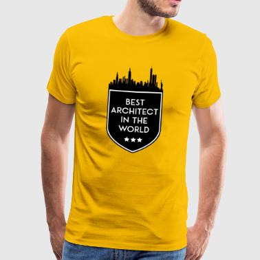 BEST ARCHITECT IN THE WORLD SHIELD - Men's Premium T-Shirt