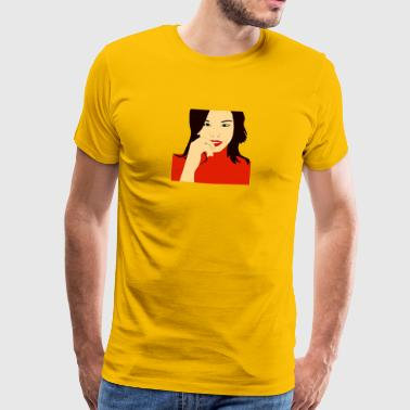 Woman seductive - Men's Premium T-Shirt