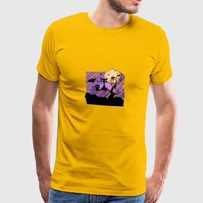 cat by night - Men's Premium T-Shirt