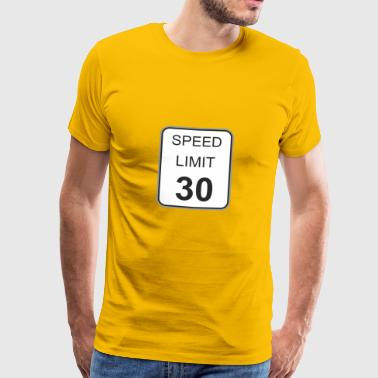 Road sign speed limit 30 - Men's Premium T-Shirt
