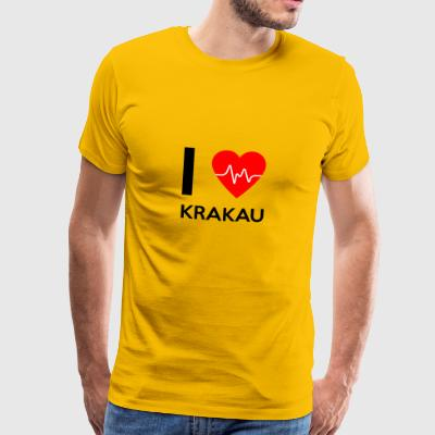 J'aime Cracovie - I love Cracovie - T-shirt Premium Homme