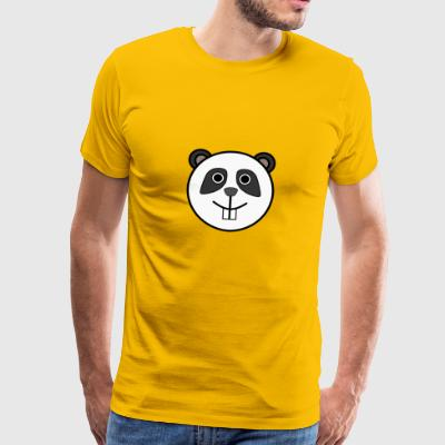 Funny Panda with buck teeth - Men's Premium T-Shirt