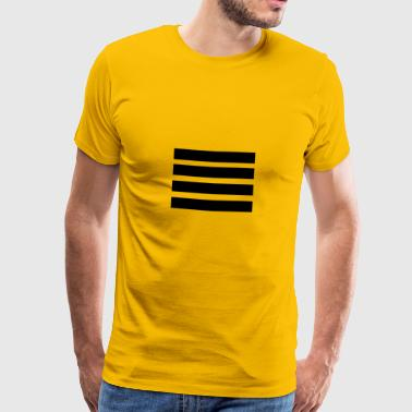 SORT - Herre premium T-shirt