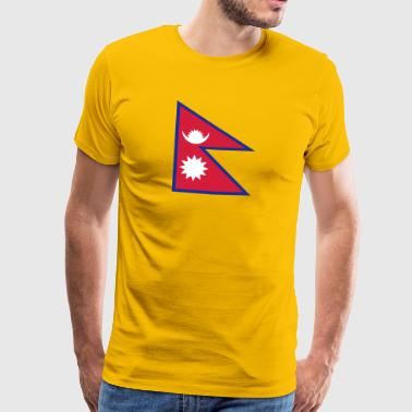 National Flag Of Nepal - Herre premium T-shirt