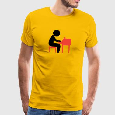 A Jazz Musician Plays On The Piano - Men's Premium T-Shirt