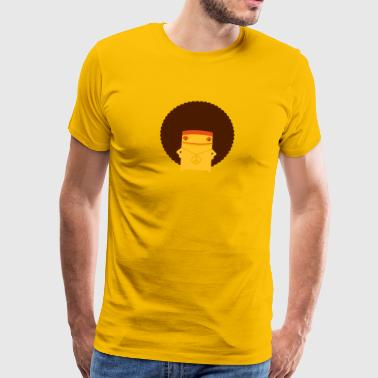 A Hippie With An Afro - Men's Premium T-Shirt