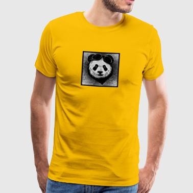 Panda - black / white - Men's Premium T-Shirt