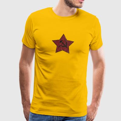 HAMMER AND SICKLE USED LOOK - Men's Premium T-Shirt