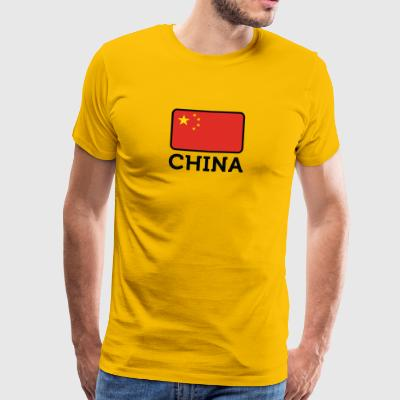 Nationalflagge von China - Männer Premium T-Shirt