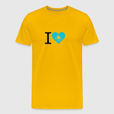 I Love Kazakhstan - Men's Premium T-Shirt