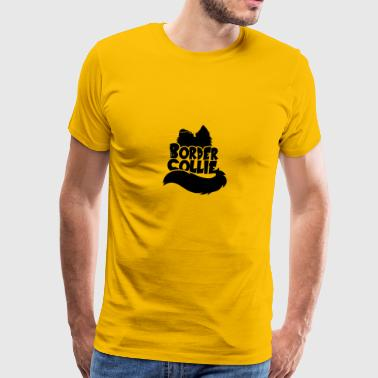 Silhouette Border Collie - Black - Men's Premium T-Shirt