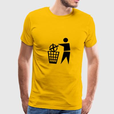 To cast a vote for the trash - Men's Premium T-Shirt