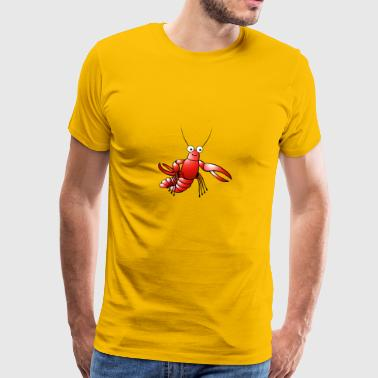 lobster24 - Premium-T-shirt herr