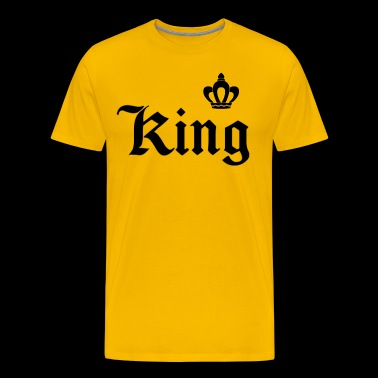King lettering with crown - Men's Premium T-Shirt