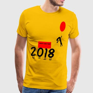 Happy New Year 2018 Goodbye 2017 - Men's Premium T-Shirt