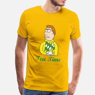 Tea Skämt Tea Time - Premium-T-shirt herr