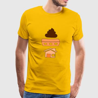 SHIT BRICK HOUSE - Men's Premium T-Shirt