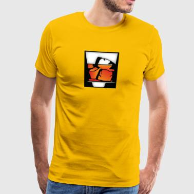 Tumbler Of Whisky Et Ice Cubes - T-shirt Premium Homme