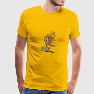 Enillo Cartoon Loewe winderig - Mannen Premium T-shirt