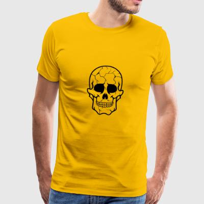 Cracked Skull / Sugar Skull Cracked - Herre premium T-shirt