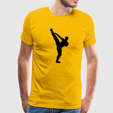 Martial arts silhouette - Men's Premium T-Shirt