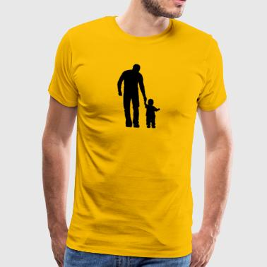 Father and child - Men's Premium T-Shirt