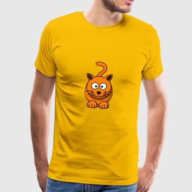 chat orange, - T-shirt Premium Homme
