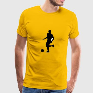 Soccer football player silhouette 9 - T-shirt Premium Homme