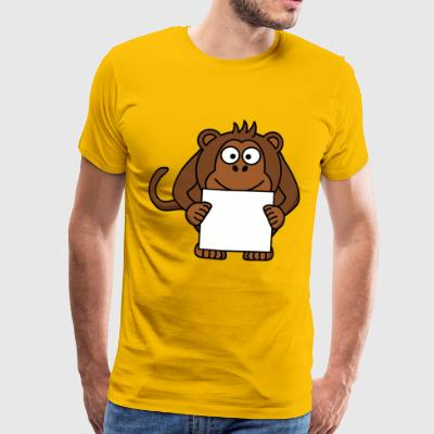 Mako the monkey and his copy - Men's Premium T-Shirt