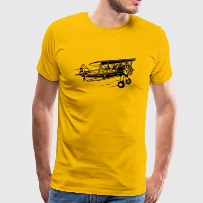 Airplane / Airplane 01_black - Men's Premium T-Shirt