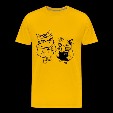 Graffiti cats - Men's Premium T-Shirt