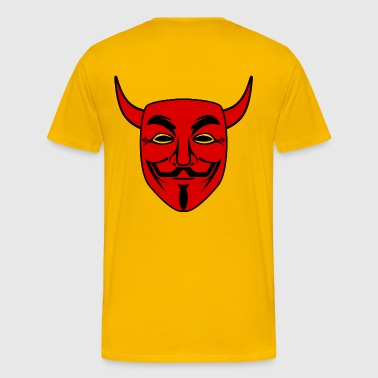 anonymous devil red mask - T-shirt Premium Homme