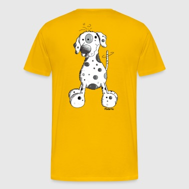 Droll Dalmatian - Dog - Men's Premium T-Shirt