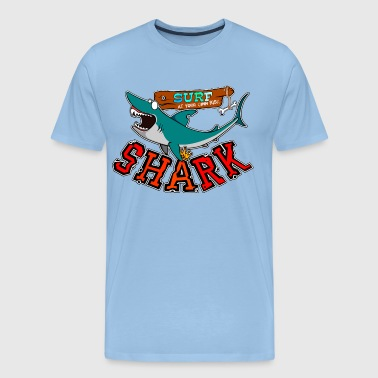Surf with shark - T-shirt Premium Homme
