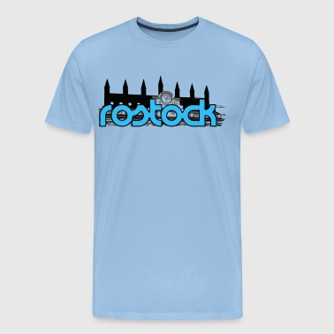 Rostock, Rostock Town Hall (blue) - Men's Premium T-Shirt