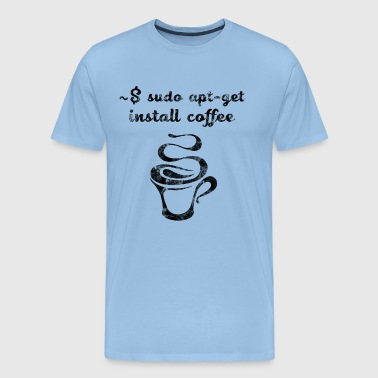 Administrateur système - sudo apt-get install coffee - T-shirt Premium Homme