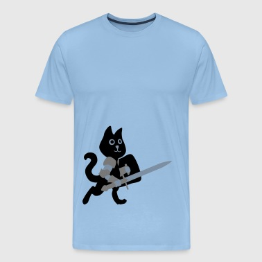 cat knight / chivalry Cat - Men's Premium T-Shirt