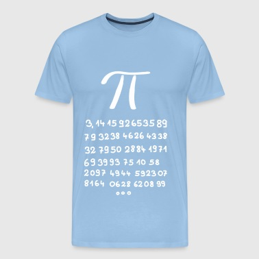 Pi with 60 decimal places - Men's Premium T-Shirt