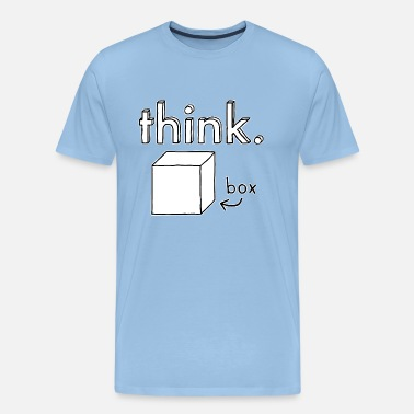 Think Outside The Box Think Outside the Box Illustration - T-shirt Premium Homme
