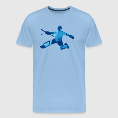 Field Hockey Goalie Field hockey goalkeeper blue - Men's Premium T-Shirt