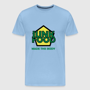 Junk food made this body - Men's Premium T-Shirt