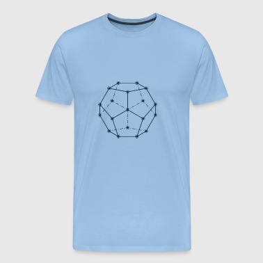 Dodecahedron, Sacred Geometry - Men's Premium T-Shirt