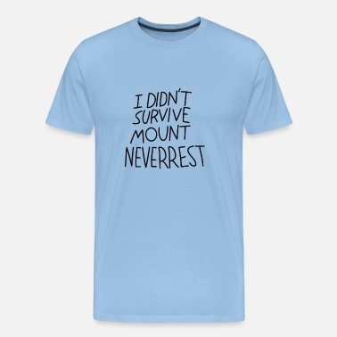 Editor I Didn't Survive Mount Neverrest - Premium-T-shirt herr