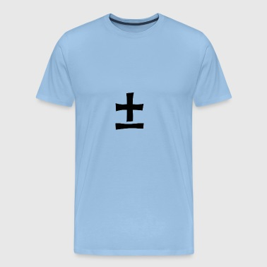 Plus minus. Mathematics, symbols - Men's Premium T-Shirt