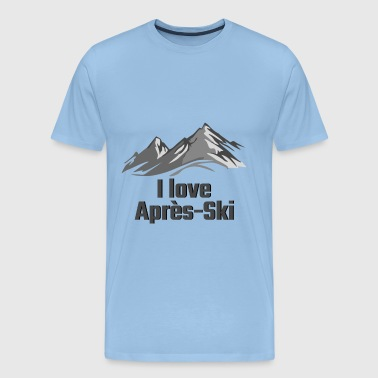 I love apres ski - Men's Premium T-Shirt